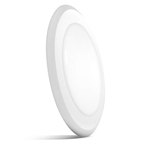 Sunco Lighting 5 Inch / 6 Inch Flush Mount Disk LED Downlight, 15W=100W, 2700K Soft White, 1050LM, Dimmable, Hardwire 4/6 Junction Box, Recessed Retrofit Ceiling Fixture