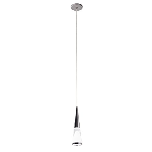 Bazz P15746CH Nexa Integrated LED Single Pendant with Acrylic Shade, Adjustable, Dimmable, Easy Installation, Energy efficient, 71-in, - Adjustable Chrome Pendant