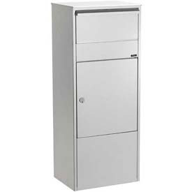 (Allux Series Mailbox Allux 800 Wall Mount Mail/Parcel Box in Grey)