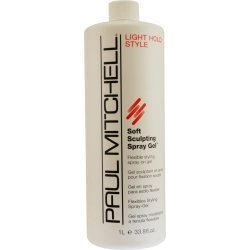 PAUL MITCHELL by Paul Mitchell SOFT SCULPTING SPRAY GEL REFILL FLEXIBLE STYLING 33.8 OZ (WITHOUT SPRAYER) Soft Flexible Hold Conditioning Gel