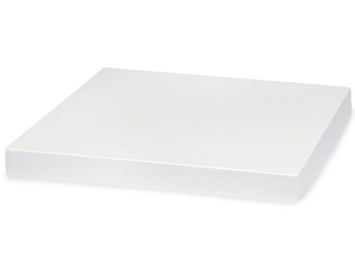 WHITE GLOSS 14x14'' Box Lid100% Recycled Giftware Rigid LID (1 unit, 50 pack per unit.) by Nas