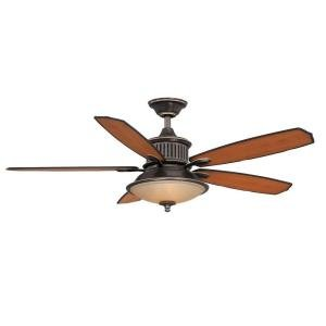 "Isolabella II 52"" Tarnished Bronze Ceiling Fan with Light an"