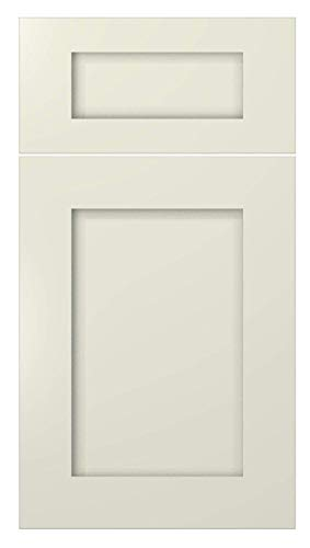Shaker Creme White Cabinet Solid Wood Construction Wall Cabinet Two Door for Kitchen Bath or Laundry (W3330 Wall Cabinets)