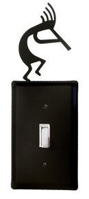 ES-56 Kokopelli Single Switch Electric Cover by Village Wrought Iron