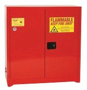 Close Manual Door Ink Cabinet (Eagle 60 Gallon Red 18 Gauge Steel Safety Storage Cabinet With (2) Manual Close Doors, (5) Shelves, Warning Labels And 3-Point Latch System (For Paint And Ink))