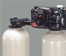Fleck 9100 water softener control valve dual tank replacement head from Fleck