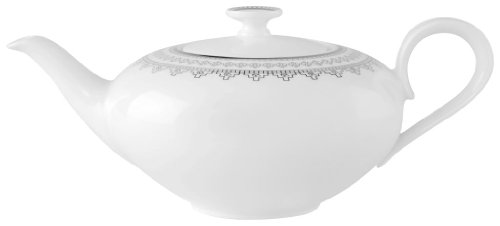 Villeroy & Boch White Lace 33-3/4-Ounce Teapot ()