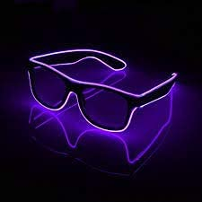 Peakhill party suppliers light up shutter led neon rave glasses party eyeglass el wire