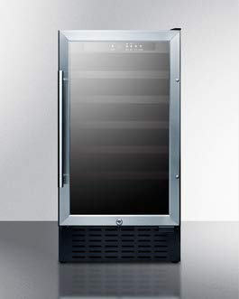 Summit SWC1840B 18 Inch Wide 3.3 Cu. Ft. Capacity Built-In Single Zone Wine Cooler