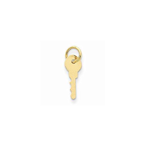 14k Gold Key (14k Yellow Gold Key Charm)