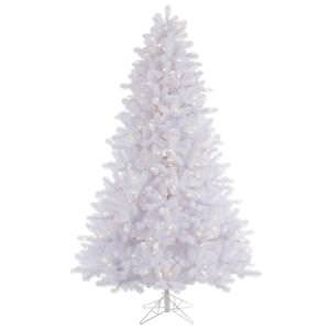7.5' Pre Lit Crystal - Vickerman Pre-Lit Pine Tree with 650 Warm White Italian LED Lights, 7.5-Feet, Crystal White