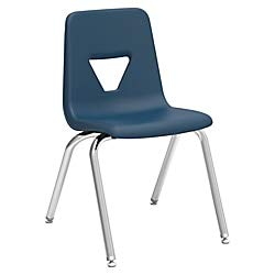 Lorell Classroom Student Stack Chairs, 18
