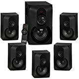 Acoustic Audio AA5301 Bluetooth Powered 5.1 Speaker System Home Theater Surround Sound