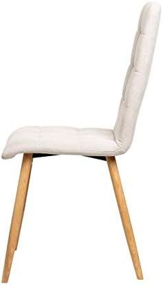 La Chaise espagnole Guadix Chaise, Tissus, Beige Sable, 43 cm (Largeur) x 56 cm (Profondeur) x 94 cm (Hauteur)