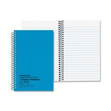 - National Brand Subject Wirebound Notebook, College Rule, 5 x 7-3/4, WE, 80 Sheets/Pad