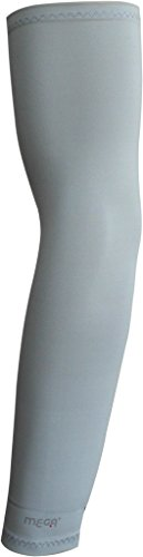Mega, Gray/Grey Outdoor/sports/activity for Golfing, Special Micro-fiber Arm Sleeve 1 Pair by Mega Sports