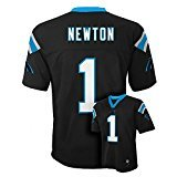 Outerstuff Cam Newton Carolina Panthers #1 NFL Youth Mid-Tier Jersey Black (Youth Medium 10/12)