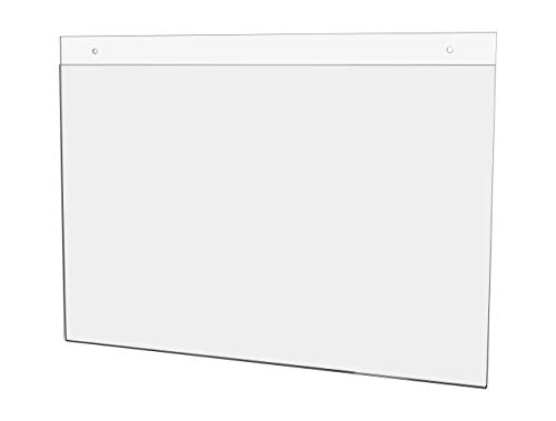 Marketing Holders 17W x 11H Sign Holder Warnings Sleeve Pack of 5 Announcements Certificate Store Bulletins Hours Frame Ad Handout Notice Horizontal Advertisement Instructions Emergency Exit Map
