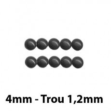 50 Perles magiques 4 mm Anthracite Grade A