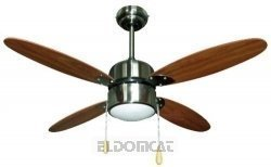 Zephir zfs4108m Ceiling Fan with Lamp, Brown ZFS4108M