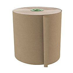 Cascades(R) 100% Recycled Hardwound 1-Ply 7 1/2in. Roll Towel For Tandem(R), 1050ft., Moka, 6 Rolls Per Case