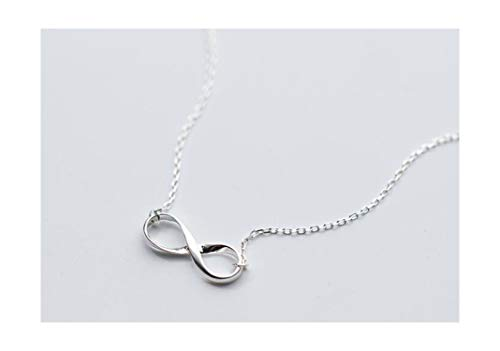 - Classic 925 Sterling Silverjewelry Polished Knot Infinity Eternal Love Necklace Pendant Promised