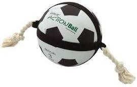 Pelota de fútbol para perro con cuerda interactiva de gran acción ...