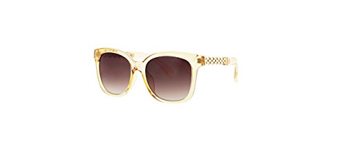 Catherine Malandrino Women's Deep Square Cat Sunglasses With Chain Link - Sunglasses Catherine Malandrino