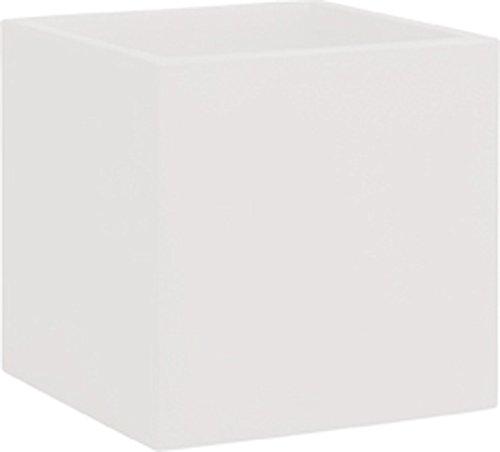Blumentopf / Pflanztopf, quadratisch, B50 x H50 x T50 cm, weiß, matt, 123 l Inhalt, für Innen und Außen, aus hochwertigem Polyethylen