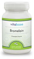Bromelain (400 mg) 60 Capsules per Bottle (6 Pack) by Vitabase