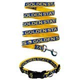 Pets First Golden State Warriors Nylon Collar for Pets and Matching Leash (NBA Official Size ()