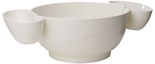 Piece Bowl 3 Serving (Prodyne Chips and Dips Bowl, White 3-Piece)