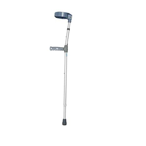 YAC Forearm Crutches Walking Stick, Lightweight Adjustable Aluminum Alloy Disabled Crutch Rehabilitation Device - Aluminum Underarm Adjustable Crutch
