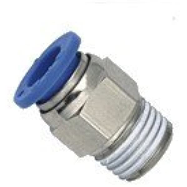 MettleAir Push in to Connect Fitting 1//4 OD M8 Female Straight Connector One Touch Thread MTCF1//4-M8 10