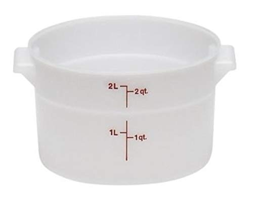 Cambro RFS2148 White Poly Round 2 Qt Storage Container