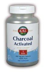 KAL Charcoal, 280 mg, 100 Capsules (Kal Charcoal)