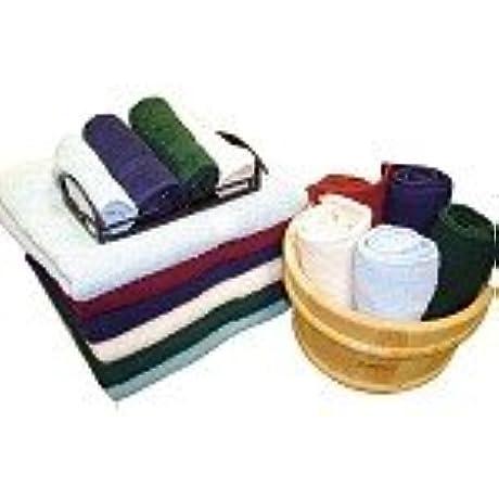 Hotel Oxford Bleach Guard Hunter Green Washcloths 12x12 100 Ringspun Cotton Terry W Dobby Borders 25dz