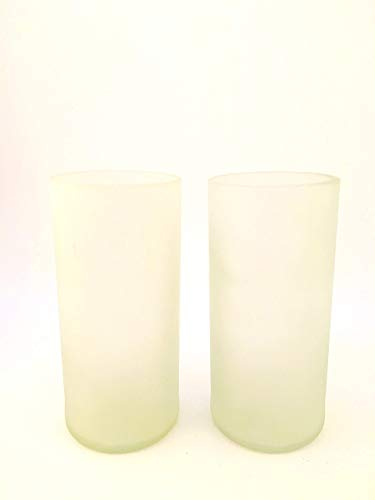 FROSTED WHITE 16 OZ Wine bottle Drinking Glasses - REPURPOSED GLASSES