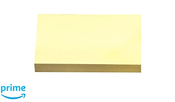 Yellow Removeable Sticky It Post Notes 127mm x 76mm 3 x 5 100 Sheets Per Pad