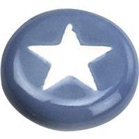 Laurey Co. - Laurey 1-1/4 In. Round Ceramic Knob With Star Design - Laurey Stars