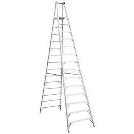 Werner (P414) Platform Ladder, Aluminum (16 Ft Ladder Step)
