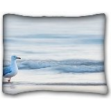 "Decorative Standard Pillow Case Animals bird seagull sea 20""*26"" One Side"
