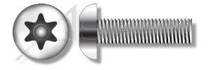 (200pcs) 1/4-20 X 3/4 Security Machine Screws Button Head Torx Pin Stainless Steel Ships FREE in USA