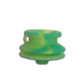 (MOUTHPEACE Mouth Peace 100% Platinum Cured Silicone (Green/Yellow, Slim))