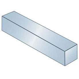 Keystock - 3/8'' x 3/8'' x 1 Ft - Carbon Steel - Zinc Clear - Undersize - ANSI B17.1 - Pkg Qty 19