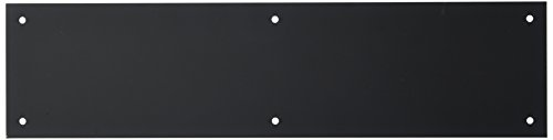 Push Plates Door Accessories (Baldwin 2124 4 Inch x 16 Inch Solid Brass Square Edge Push Plate, Satin Black)