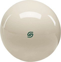 Cue and Case MCBGL 2.25 Inch Aramith Magnetic Cue Ball with Green Logo for Coin-Operated Tables.
