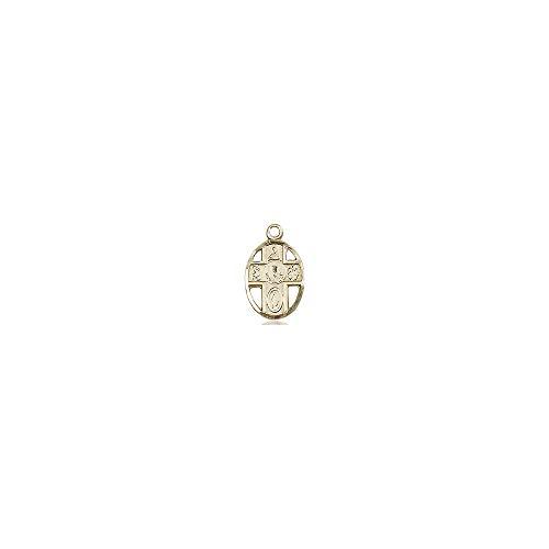 DiamondJewelryNY Religious Medal, 14kt Gold Filled 5-Way/Chalice Medal ()