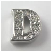 Letter D floating charms, D locket charms,alphabet charms,grapheme D charms