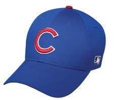 MLB YOUTH Chicago CUBS Home Blue Hat Cap Adjustable Velcro TWILL